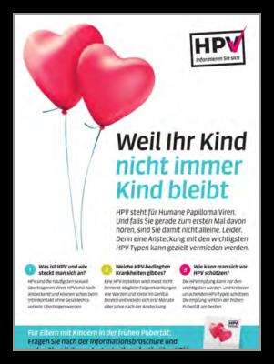 HPV «Weil Ihr Kind nicht immer Kind bleibt» (A4)