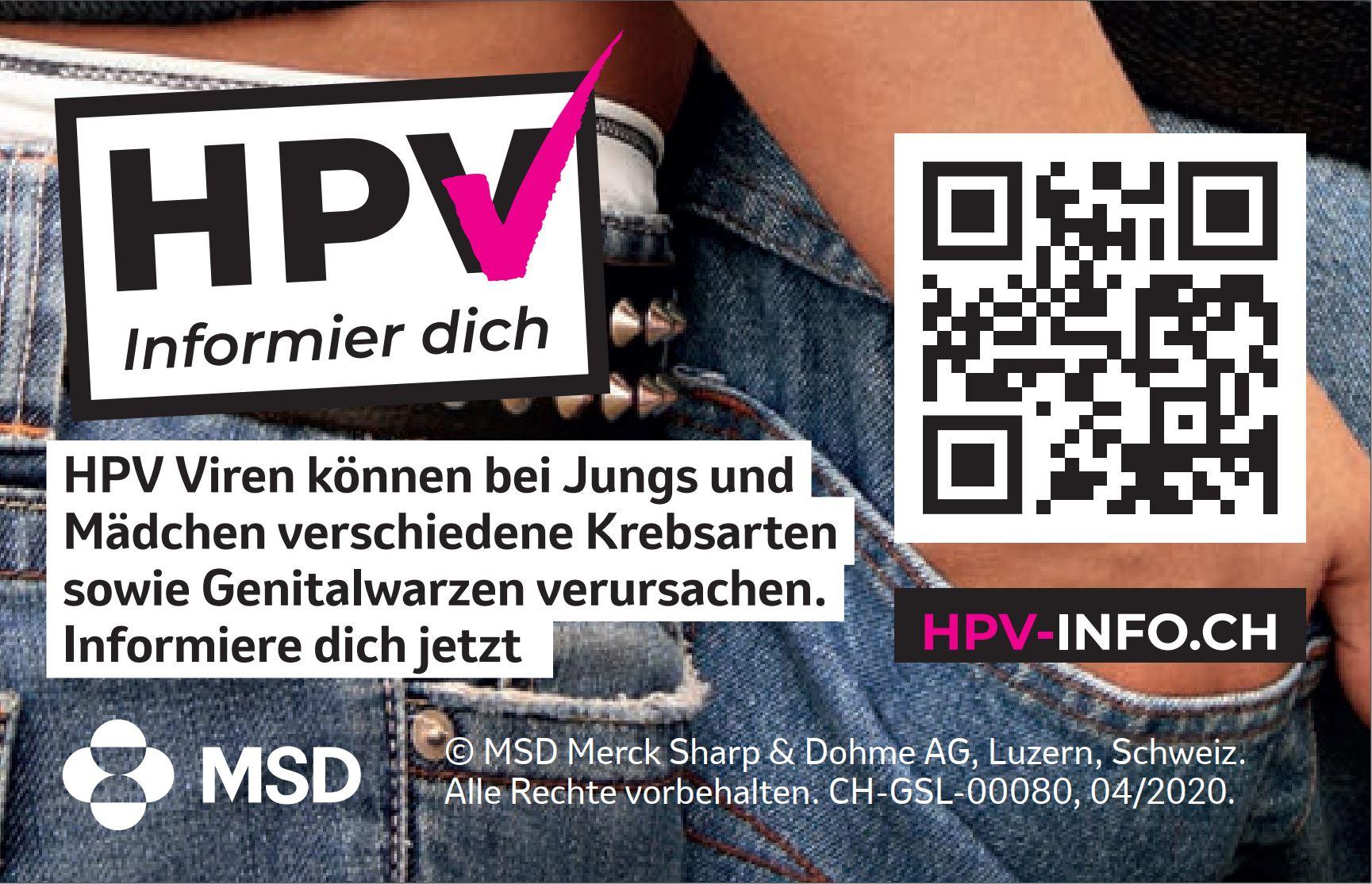 Visitenkarten zur hpv.info.ch Webseite